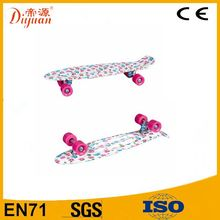 wholesale PP material water transfer printing fish skateboard glider skateboard