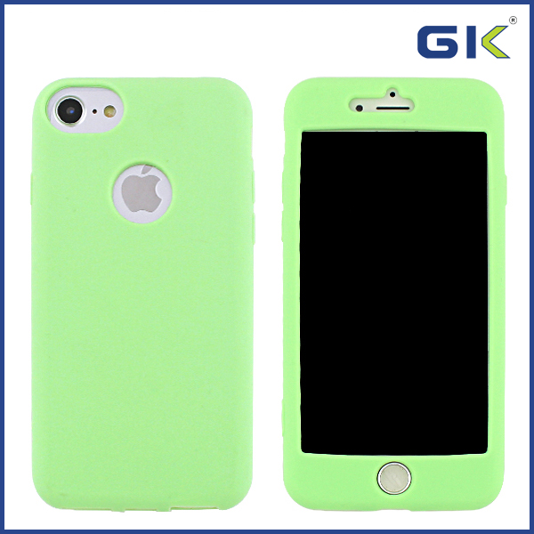 [GK] 360 Degree Covered Liquid Silicone Mobile Phones Case For iPhone 7