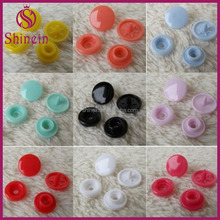 Plastic Nylon 9colors Snap Button Fastener 4 part Buttons For Kidswear,rainwear,bags