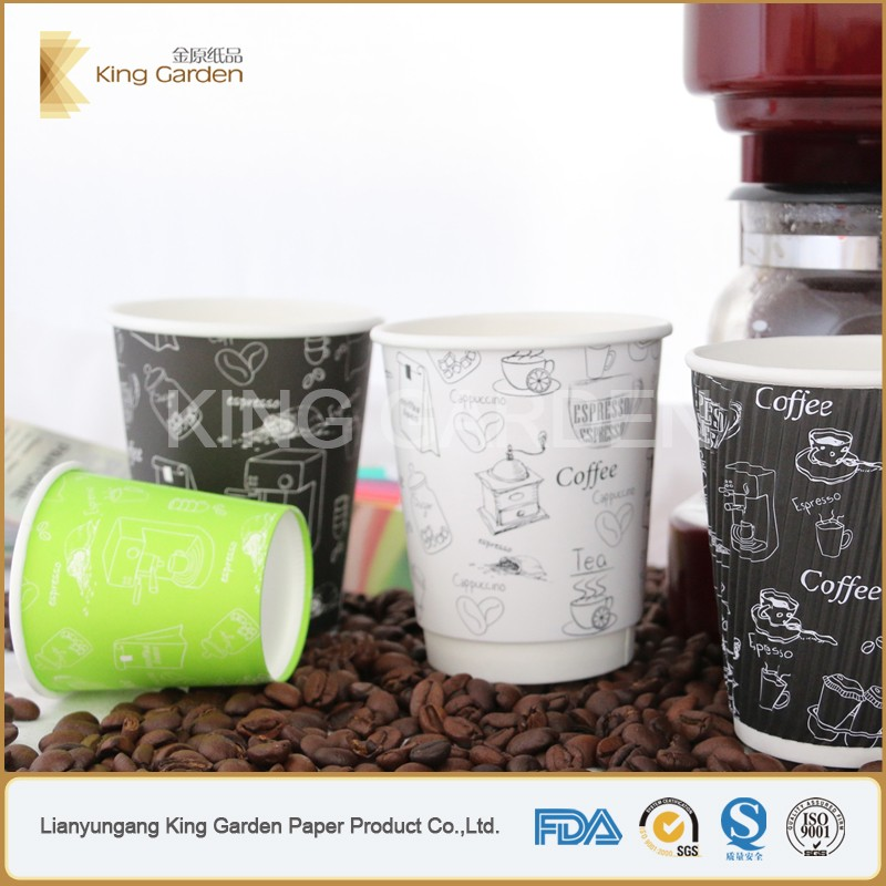 Logo custom print 7oz PE coated paper hot and cold cups with lids