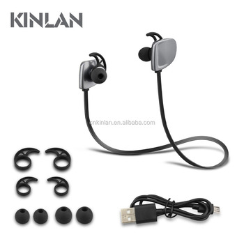 Kinlan Bluetooth wireless earphone sports headphone CVC noise cancelling headset
