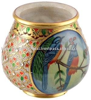 Decoration marble pot for flowers