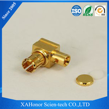 High performance rf coaxial solar connector mcx male pcb connector right angle automotive ecu connector for PCB