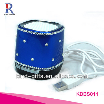 New Bling Rhinestone Bluetooth Speaker Adapter With Crystal China Factory