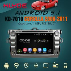 Android 5.1.1 RK3188 quad core HD screen build-in wifi/gps/bluetooth 2 din car dvd navigation for Corolla 2011