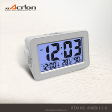 2017 Modern sensor table digital led alarm clock with USB phone charger