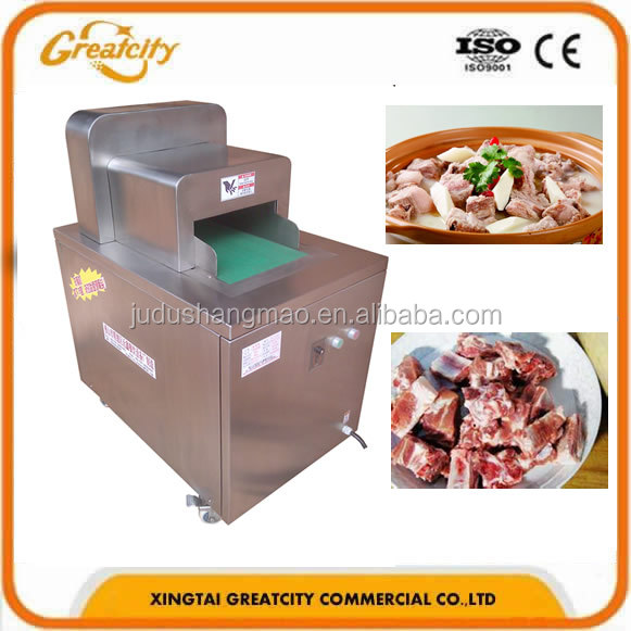 stainless steel rib chopping machine pork spare ribs chopper cooked fresh meat bone cutter length adjustable