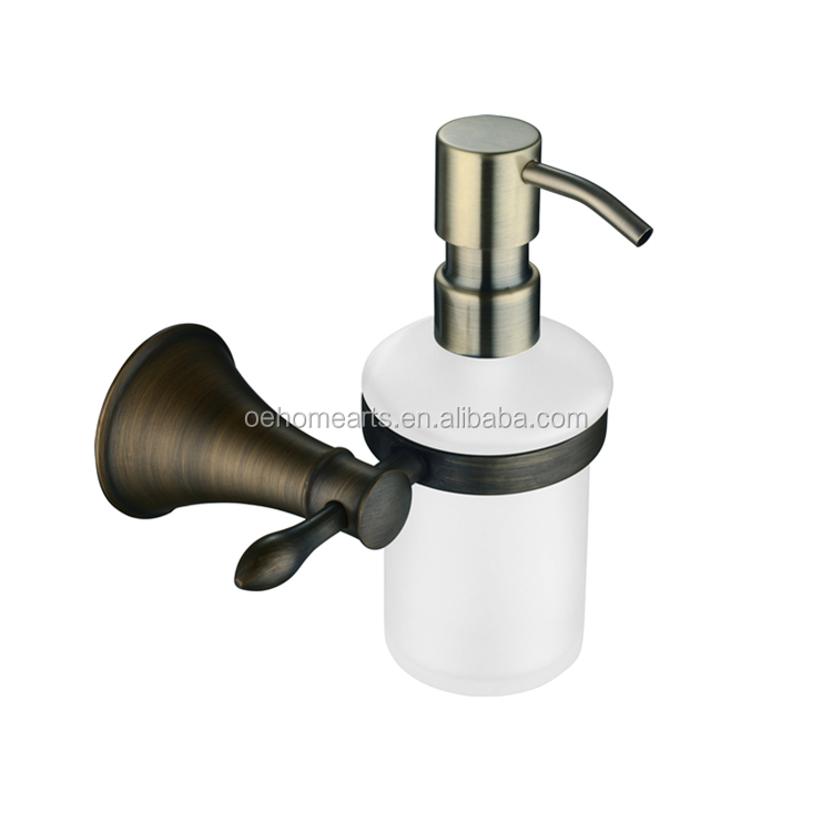 Hotel bathroom accessories set Brass liquid soap bottle holder