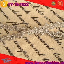 customized design silver metallic polyester braid western saddle silver trim