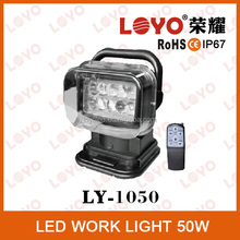 Hotsale LED work light 50W 3200lm IP67 Wireless remote control LED work light for trucks/auto