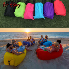 New Model import Fancy Outdoor Lazybag Inflatable Lounger Air Lazy Sofa