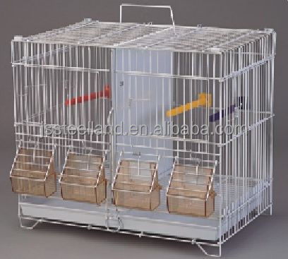 white fashionable easy assemble metal bird cage