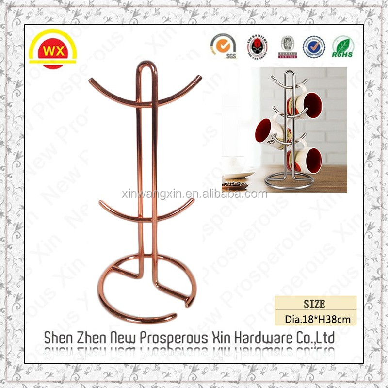 Wholesale kitchen wire rose gold beach cup holder