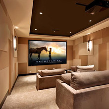 fixed frame projector screen home cinema acoustic transparent screen