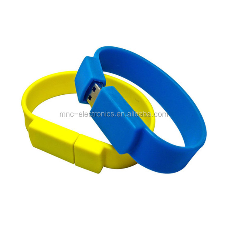 Cheaper price high quality Silicone Wristband USB Flash memory drive