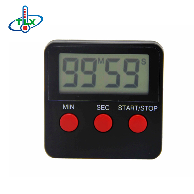 Best selling high quality square black mini digital kitchen timer for home
