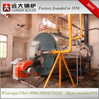Gas/oil fuel steam boiler powered food making machine