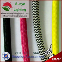 Textile cord with lamp holder,switch,fashion shoe plugs