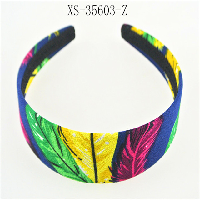 Fabric Covered Wide Hairband hard wide plastic headband For Women