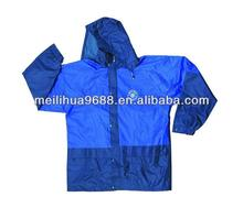 High quality outdoor jacket blue raincoat for kid