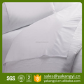 Standard Size 260TC Plain White Bedroom Fitted Sheet For Hotel