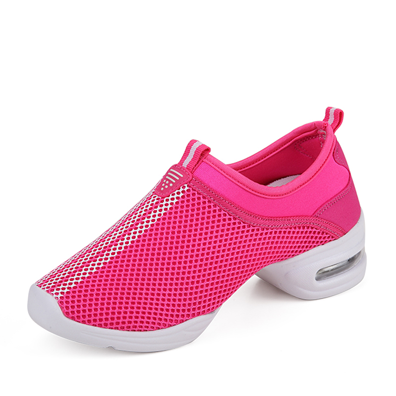 Free Shipping Air Mesh Women Jazz Shoes Breathable Comfort White Dance Sneakers for Kids