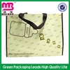 tiny clear window non woven tote alcohol bag wine bag