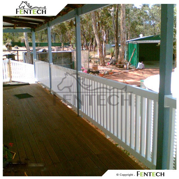 PVC Proof Colored Plastic Fence , PVC Balcony Fence