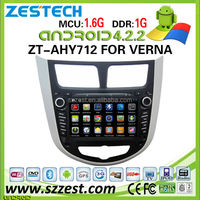 ZESTECH car dvd player for Hyundai Verna car dvd player DVR Android 4.2.2 capacitive multi touch screen