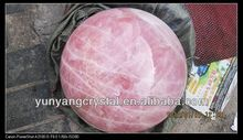 Pink crystal ball sphere
