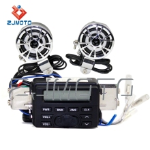 ZJMOTO Motorcycle Sound System Motorbike ATV Radio MP3 Speaker Waterproof Music
