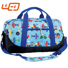 2017 Embroidery friendly More color cartoon Overnight shoulder foldable travel duffle bag gym