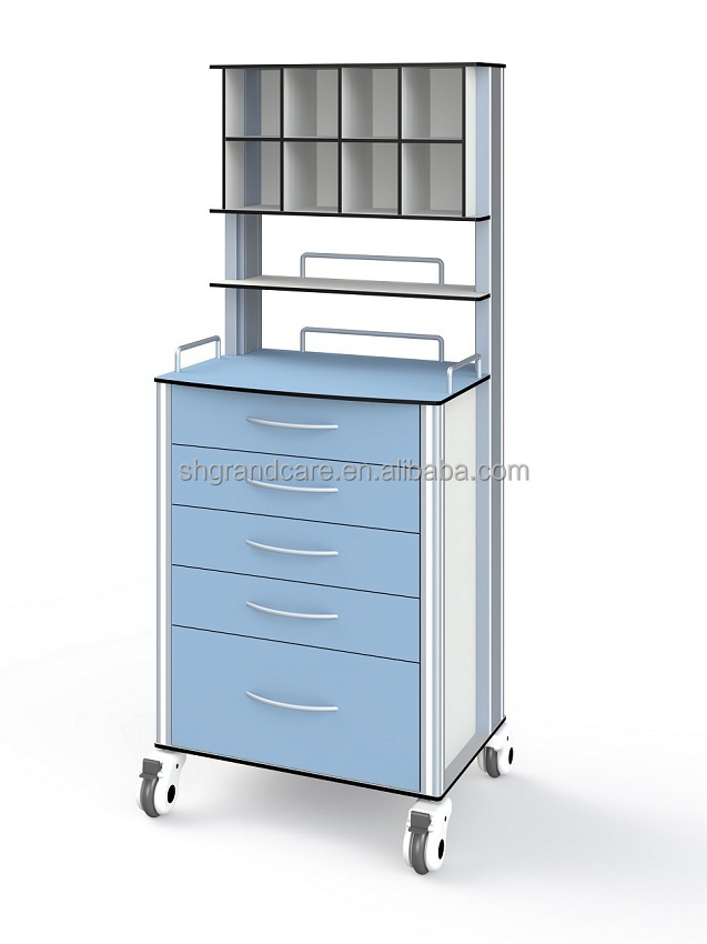 Hot Sell Whole Cart Sterilization Medical Anesthesia Trolley With Storage Boxes G-TA005
