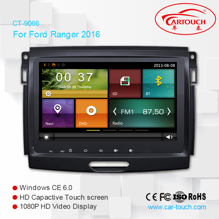 2din touch screen stereo car multimedia radio TV GPS navigation audio DVD car player for Ford Ranger 2016