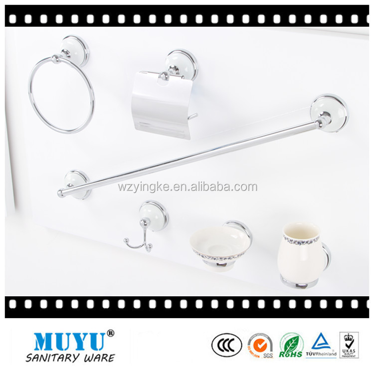 zinc toilet hardware , ceramic toilet bath accessories , hotel bathroom accessories set