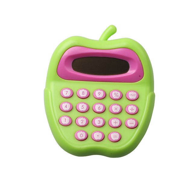 8 Digit Compact Pocket Company Gift Apple Shape Calculator
