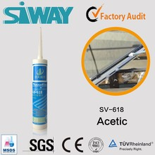 Curtain wall use acetic acetoxy silicone sealant