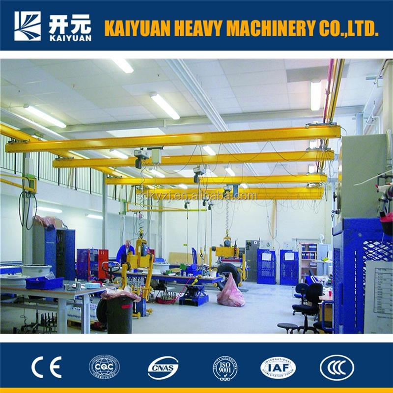 2015 year 5 t single girder crane with suspending overhead type made by Kaiyuan Mechan for Syria and Switzerland
