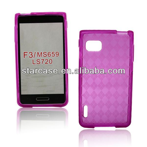 diamond tpu cover for lg optimus f3 ls720 also available for Virgin Mobile, MetroPCS and T-Mobile USA.