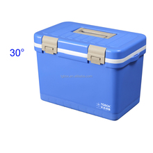 12L portable plastic cold box vaccine blood transport cooler box