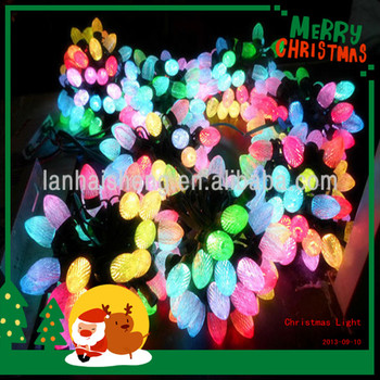 Hot holiday light Led strawberry Good quality holiday light DC5v led christmas string lights Colorful C9 holiday light ce&rohs