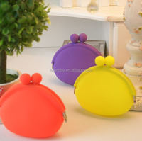 Small/Media/Large Waterproof Pure candy color Silicone rubber coin/key bag/purse