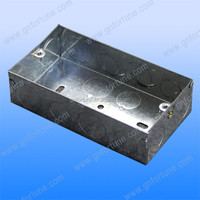 gang GI metal conduit cable switch boxes with galvanized finish