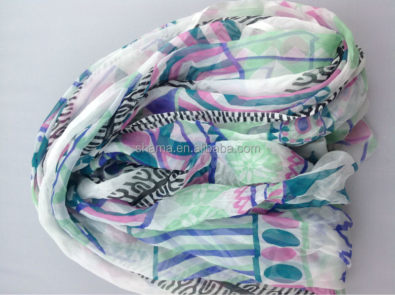 supply pure printed silk scarf customized for Mexico market