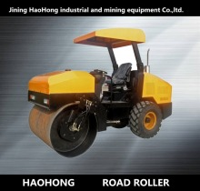 Full hydraulic exciting force 10 ton rubber tire compactor road roller