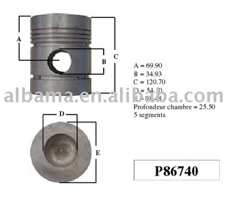 86740 Diesel engine Piston For Perkins Engines