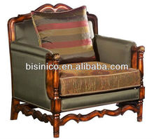 Victorian Vintage Sofa Chair/British Classical Arm Chair Sofa Seat/Wing Sofa, Living Room Furniture