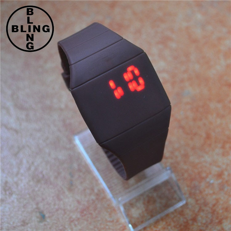 >>>In Stock Hot Selling Student Sports Couple Wrist Watch With Date Bracelet Digital LED Watch