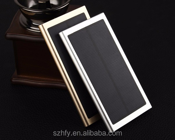 Ultra Thin Solar Power Bank Mini Portable Solar Charger USB 8000mah Solar Power Bank for Smart phones