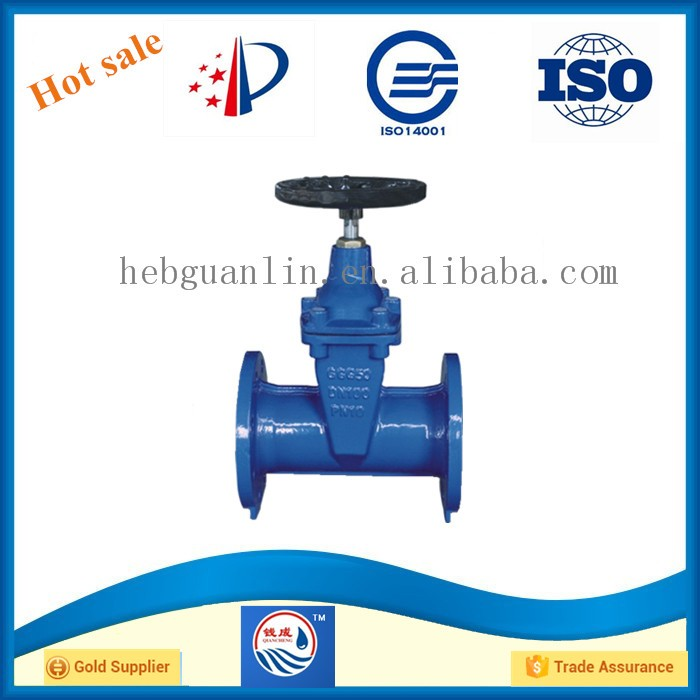 DN100 DIN3352-F4 German Standard Flanged Cast Iron Non-rising Stem Resilient Soft Seated Gate valves